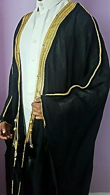 Magnificent royal hand made Saudi bisht mashlah arab robe
