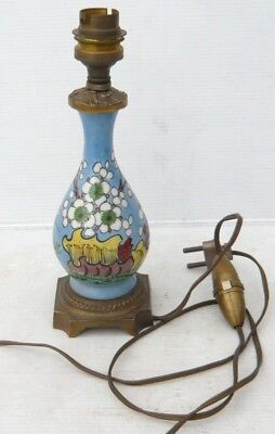 Lovely BASE LAMP Antique of the 19th century earthenware and Bronze Decoration