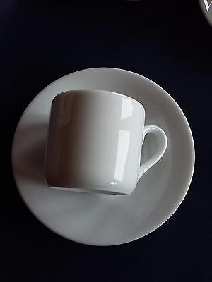 Royal Worcester Classic White Coffee Cups and Saucers x 4 Espresso Size