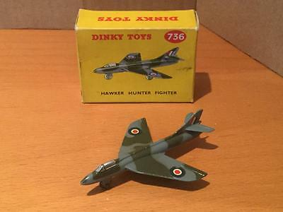 Dinky Toys Military Aircraft 736 Hawker Hunter Fighter NMIB