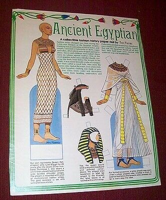 PAPER DOLL Ancient Egyptian #2 ~ womans World MAG pg ~ Tom Tierney 1989