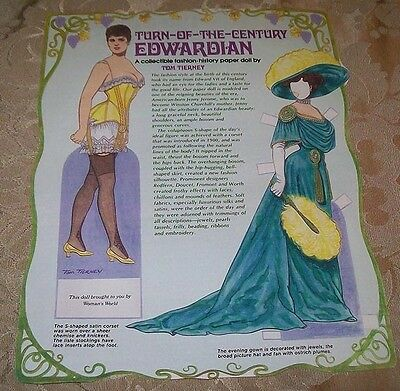 PAPER DOLL ~ Edwardian ~ Woman's World Mag ~ Tom Tierney 1990