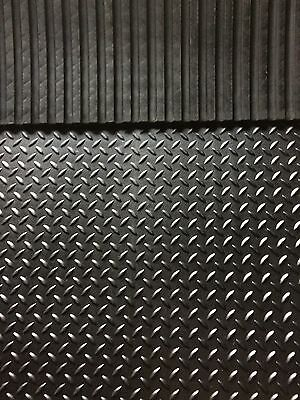Heavy Duty Large Rubber Gym Mat Commercial Flooring 12mm  checker design