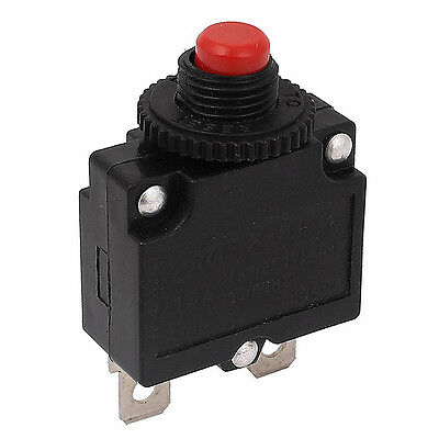 125V/250V 15A Push Button Reset Circuit Breaker Overload Protector Red