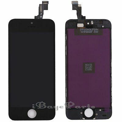 For iPhone 5S LCD Touch Display Screen Digitizer Replacement Black Assembly