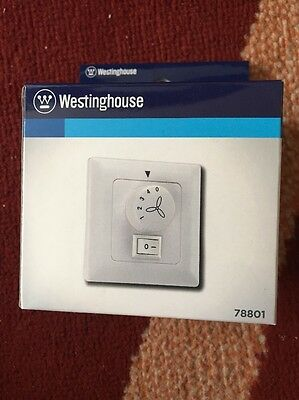 Westinghouse Ceiling Fans - White Wall Controller with Light Switch