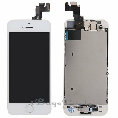 For iPhone 5S LCD Touch Display Screen Digitizer +Buttonn +Camera White Assembly