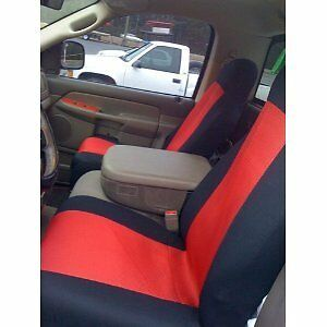 Classic Premium Bucket Cloth Car Truck Auto Seat Covers Red Black color-17212-39