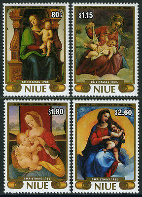 Niue 530-533, MNH. Christmas. Paintings in the Vatican Museum, 1986