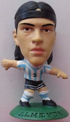 Matias Almeyda 2001 Argentina Football Corinthian Figure Green Base MC466