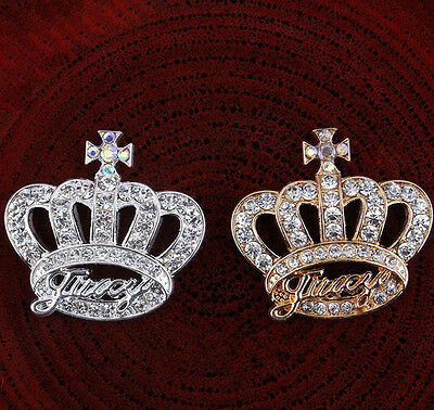 Cute 3D Crown Alloy Bling Rhinestone DIY Cell Phone Case Deco Den Kit