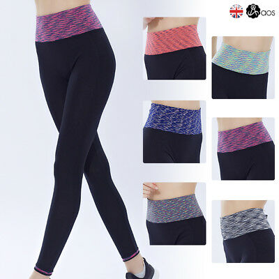 Womens Yoga Fitness Leggings Running Gym Stretch Sports Pants Trousers Exercise