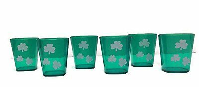 Saint Patricks Day Plastic Shot Glasses Pack of 6