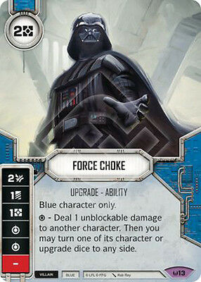 Force Choke - 1 Die/Card - Star Wars Destiny Awakenings - Legendary