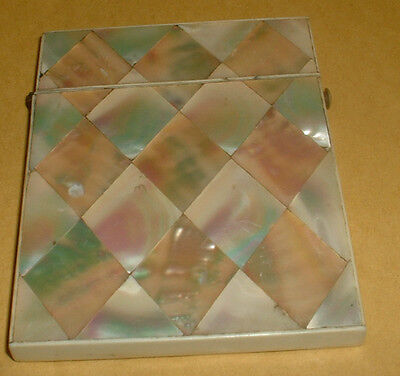 Vintage Mother Of Pearl Card Case