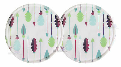 Bamboo Cloth Breast Nursing Pads Washable reuseable eco - Arrows 2 Pack