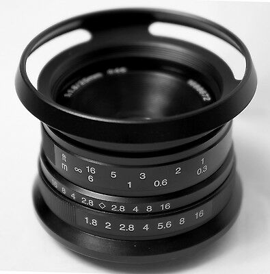 7artisans 25mm F1.8 ( Black) Manual Focus HD.MC LENS f/ Canon EOS M EF-M Camera