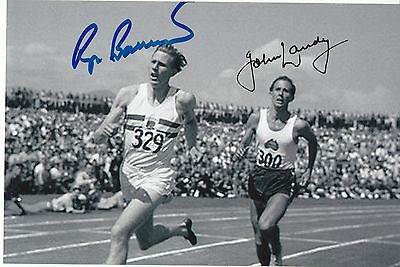 Roger Bannister  John Landy Athletics Miracle Mile 1954 Great Signed Photo Coa