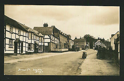 Postcard - Broad Street, Weobley, Hereford - Real Photo