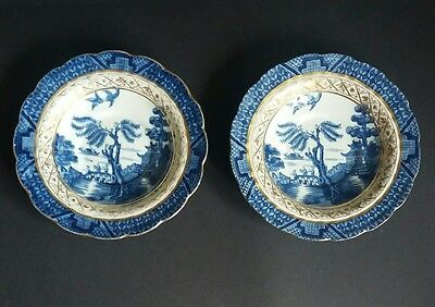2 x Booths Real Old Willow Saucers