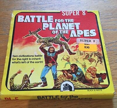 """SUPER 8mm """"BATTLE FOR PLANET OF THE APES"""" PL-5. B&W SILENT"""
