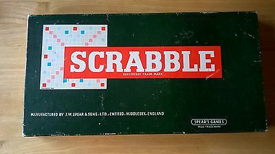 Vintage Scrabble Board Word Game by Spears