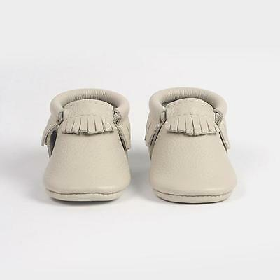 Freshly Picked Birch Kids Leather Moccasins Shoes Sz 3 12-18 Months