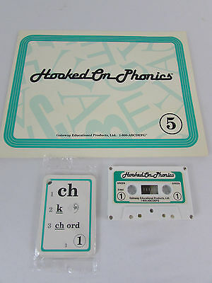 Hooked on Phonics Learn to Read Book 5 Audio Tapes Flashcards ~ Incomplete Set