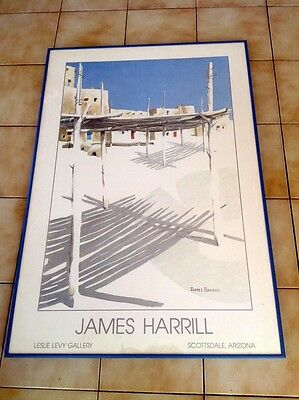 affiche james harrill encadrée alu