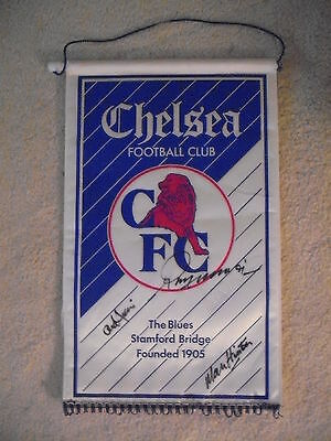 Chelsea Pennant Signed X 5