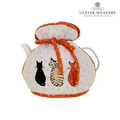 "Ulster Weavers ""New Cats in Waiting"" Design Cotton Padded Tea Cosy Muff"