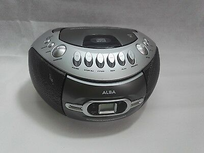 Alba Portable CD Cassette Boombox with Radio FM &  Tape player not working
