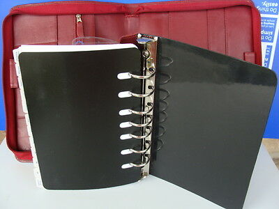 """Classic 1.125"""" Rings Red UNSTRUCTURED NICE LEATHER FRANKLIN COVEY Planner/Binder"""