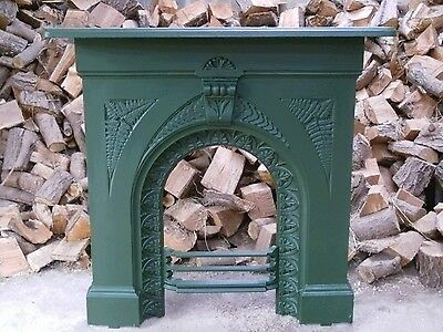 Original Victorian Cast Iron Fire Surround with Mantle / Fireplace