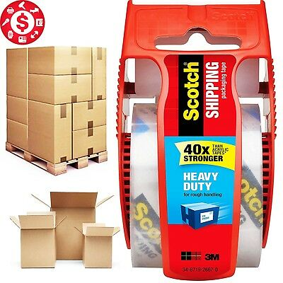 SCOTCH PACKING Repair Patch TAPE with Dispenser Heavy Duty Shipping Packaging