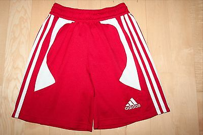 ADIDAS Climalite Red Athletic SOCCER SHORTS Track Running Size Kids YOUTH MEDIUM