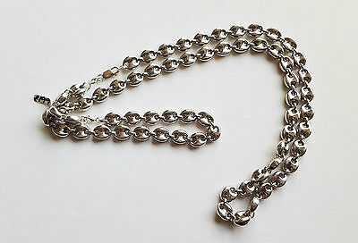 """Unusual Style Sterling Silver 26"""" & 10"""" Double Link Set RRP £199 No 5724-5725"""