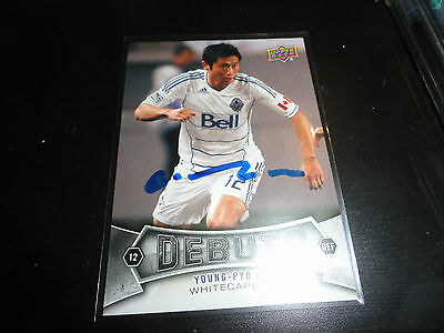 Vancouver Whitecaps Young Pyo Lee YP Lee Autographed Signed 2012 UD MLS Card
