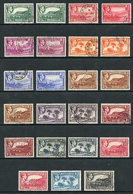 Montserrat SG101/112 1938 Set with Colour and Perf Changes Very Fine Used