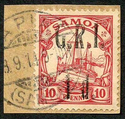 Samoa NZ Occupation SG103 1d on 10pf Very Fine used on Piece