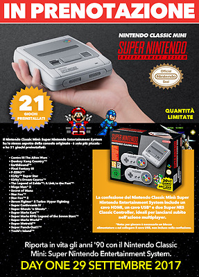 Nintendo Classic Mini: Super Nintendo (DAY ONE 29/09/2017)