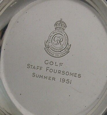 Sterling Silver Military Golfing Dish Sandhurst 1948 Army Golf Antique