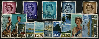 St. Lucia - SG 197-210/249 - 1964-69 - Definitive Set of 14 plus Extra - Used