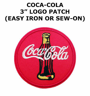 COKE COCA COLA Bottle Soft Drink Soda Logo Sew Embroidered Iron-On Patches #0312