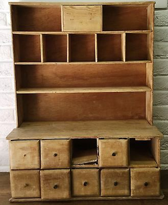 Unusually Small Vintage Old Pine 80cm High Small Sized Dresser - Shop Display