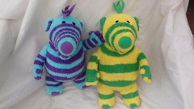 2 x Fisher Price Fimbles Soft Toys Fimbo & Florrie 35cm/40cm gii