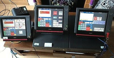 3x Casio QT-6100 Epos Touch Screen Cash Register &  Till Plus Thermal Printer