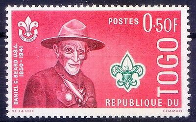 Togo MNH, Daniel C Beard Founding pioneer of the Boy Scouts of America - B123