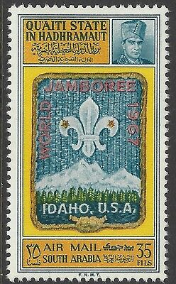 South Arabia 1967 MNH, World Jamboree, Boy Scout, Scouts, idaho USA -B122
