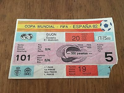Entrada Ticket World Cup Wc Spain 82 1982 Rfa West Germany Chile Game Match 19